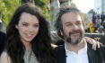 Reisr Peter Jackson s dcerou Katie na premie filmu Hobit: Neoekvan cesta ve Wellingtonu.
