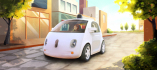 Ilustrační foto - This image provided by Google shows an artistic rendering of the company\'s self-driving car. The two-seater won\'t be sold publicly, but Google on Tuesday, May 27, 2014 said it hopes by this time next year, 100 prototypes will be on public roads. (AP Photo/Google)