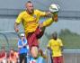 Michal Breznaník ze Sparty dává gól v přípravném fotbalovém utkání Sparta Praha - Třinec, které se hrálo 2. července v Praze.