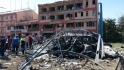 Následek pumového útoku u policejní stanice ve východotureckém městě Elazig.