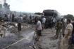 Následky pumového útoku u města Tartús na severozápadě Sýrie.