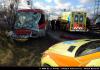 Při srážce autobusu MHD s kamionem v Praze bylo zraněno 9 lidí
