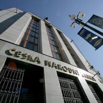 Budova České národní banky v Praze v ulici  Na Příkopě, ústřední banky České republiky a orgánu, který vykonává dohled nad finančním trhem.