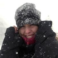 Sníh, sněžení, silný vítr - ilustrační foto.