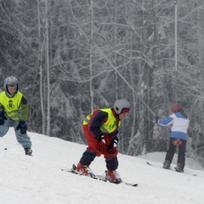 Děti na lyžích. Ilustrační foto.