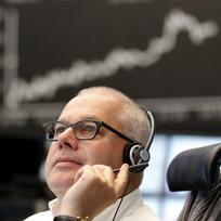 Akciová burza v německém Frankfurtu - ilustrační foto.