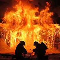 Požár, hasiči - ilustrační foto.
