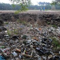 Skládka komunálního odpadu - ilustrační foto.