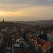Praha, pohled z Nusleského mostu