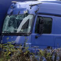 Ilustrační foto - Havarovaný kamion, nehoda - ilustrační foto