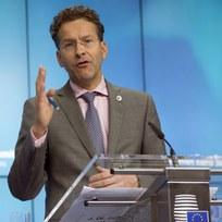 Šéf euroskupiny Jeroen Dijsselbloem na tiskové konferenci po skončení summitu eurozóny k řecké krizi.