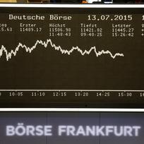 Ilustrační foto - Křivka indexu DAX na akciové burze ve Frankfurtu - ilustrační foto.