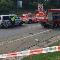 Dopravní nehoda, uzavírka - ilustrační foto.