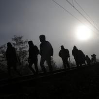 Uprchlíci, migranti - ilustrační foto.