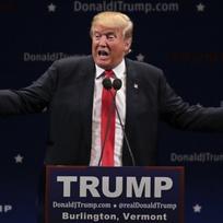 Republikánský kandidát na prezidenta Donald Trump.