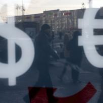 Dolar a euro, znak - ilustrační foto.