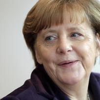 Německá kancléřka Angela Merkelová na zasedání vlády.