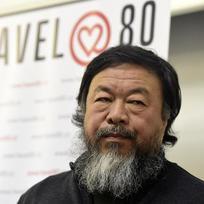 Čínský umělec a aktivista Aj Wej-wej vystoupil 5. února v Praze na besedě se studenty.