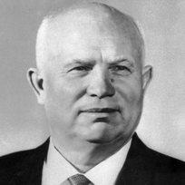 První tajemník ÚV KSSS a předseda rady ministrů SSSR Nikita Sergejevič Chruščov (ve věku 70 let).