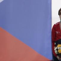 Rychlobruslařka Martina Sáblíková se stala mistryní světa na trati 3000 metrů.