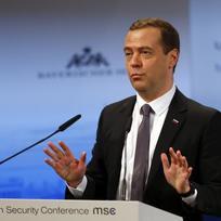 Ruský premiér Dmitrij Medveděv na Mnichovské bezpečnostní konferenci.