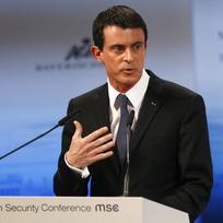 Francouzský premiér Manuel Valls na Mnichovské bezpečnostní konferenci.