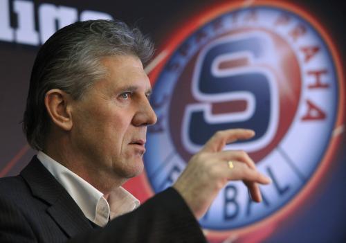 Trenér fotbalového klubu AC Sparta Jozef Chovanec vystoupil 18. února v Praze na tiskové konferenci před začátkem jarní části první fotbalové ligy.