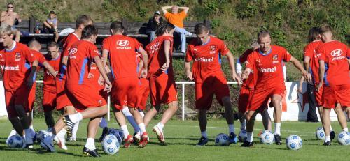 Fotbalová reprezentace se sešla 1. září v Kunicích u Prahy k tréninku před kvalifikačním zápasem se Slovenskem.