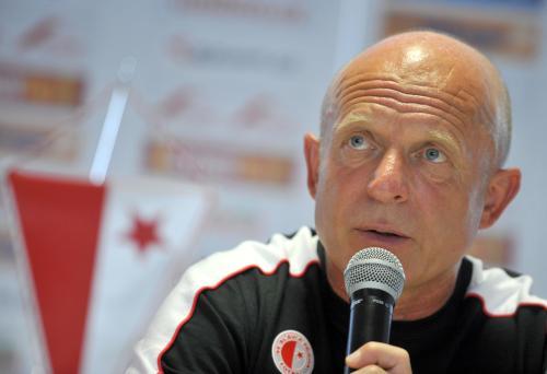 Trenér SK Slavia Praha Karel Jarolím.