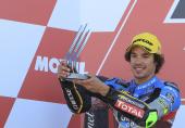 Italský motocyklista Franco Morbidelli, šampion třídy Moto2.