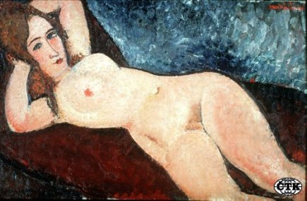 Ilustran foto - Obraz &quot;Reclining Nude&quot; italskho male Amedeo Modiglianiho.