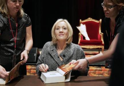 Ilustrační foto - Spisovatelka J. K. Rowlingová, autorka knih o Harrym Potterovi.