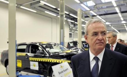 Pedseda pedstavenstva koncernu Volkswagen Martin Winterkorn se 16. prosince v Mlad Boleslavi zastnil oteven technologickho centra spolenosti koda Auto.