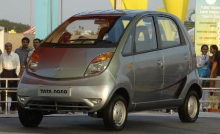 Vůz Nano indické automobilky Tata Motors.