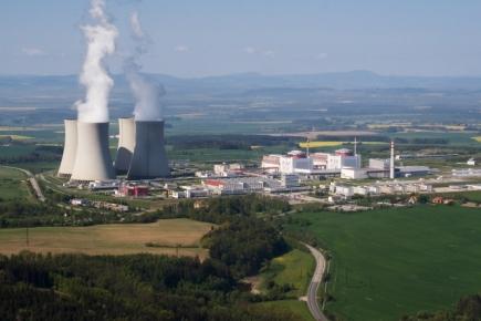 Jaderná elektrárna Temelín na leteckém záběru ze dne 9.5.2008.