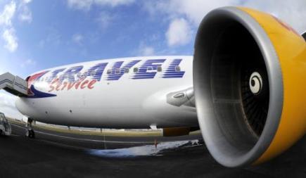 Letadlo společnosti Travel Service (na archivním snímku z 15. prosince 2008).