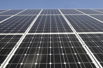 Ilustrační foto - Fotovoltaický park, solární panel, elektrárna - ilustrační foto.
