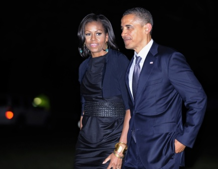 Prezident Barack Obama s amnelkou Michelle.