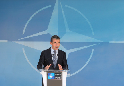 Generln tajemnk NATO Anders Fogh Rasmussen.