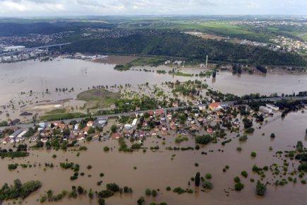 Zaplavené pražské Lahovičky (na snímku ze 4. června).