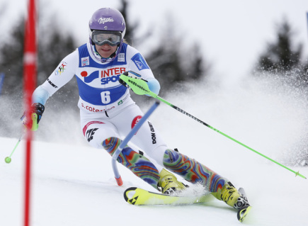 Česká slalomářka Šárka Strachová.