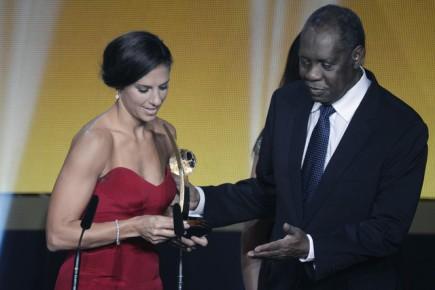 Carli Lloydová z USA, nejlepší fotbalistka roku podle ankety FIFA.
