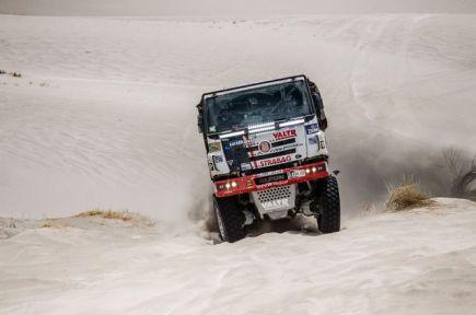 Rallye Dakar - 10. etapa (Belén - La Rioja), kamiony, 13. ledna. Jaroslav Valtr z ČR.