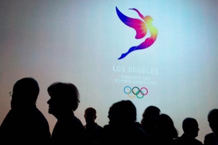 Mezinárodní olympijský výbor přijal všechny čtyři kandidatury na pořádání olympijských her v roce 2024. Na snímku logo kandidátů z Los Angeles.