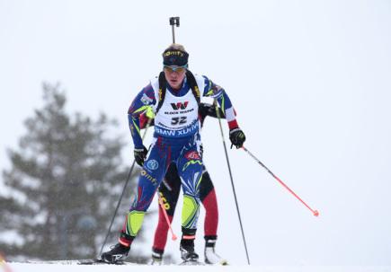 Francouzská biatlonistka Marie Dorinová Habertová.