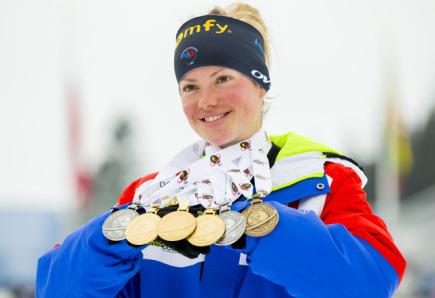 Francouzská biatlonistka Marie Dorinová Habertová získala na světovém šampionátu v Oslu medaili v každé disciplíně