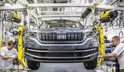 Automobilka Škoda Auto zahájila v závodě Kvasiny na Rychnovsku sériovou výrobu SUV Kodiaq.