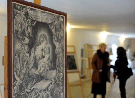 Na zámku v Lysicích na Blanensku je k vidění výstava různě ztvárněných andělů, od historických až po současné. Součástí výstavy jsou i obrazy zachycující tyto postavy (na snímku z 26. listopadu).