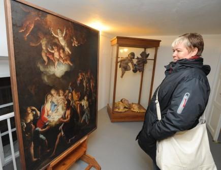 Na zámku v Lysicích na Blanensku je k vidění výstava různě ztvárněných andělů, od historických až po současné. Snímek z 26. listopadu.