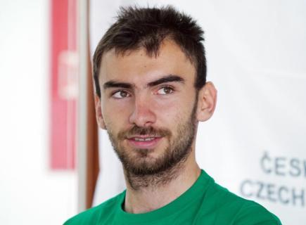 Skifař Michal Plocek.